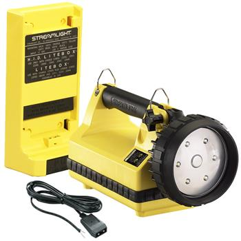 Yellow Streamlight E-Flood LiteBox Rechargeable Lantern