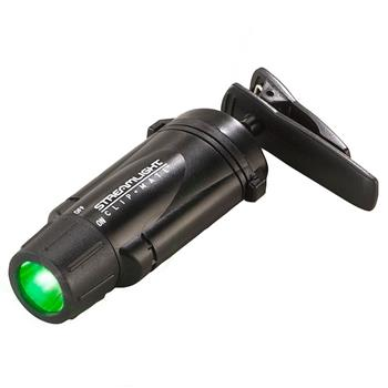 Black Streamlight ClipMate LED Flashlight with green LEDs