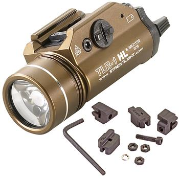 Flat Dark Earth Brown Streamlight TLR-1 HL Weapon Light