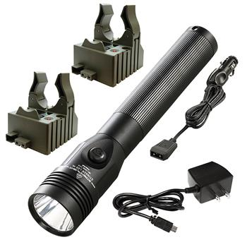 Streamlight Stinger LED HL Flashlight with AC/DC charge cords and two bases