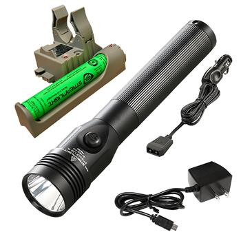 Streamlight Stinger LED HL Flashlight with AC/DC charge cords and PiggyBack base
