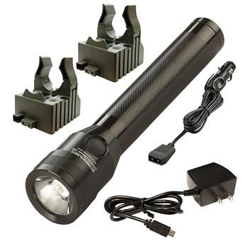 Streamlight Stinger Classic LED Flashlight with AC and DC charge cords and two bases