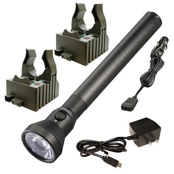 Streamlight UltraStinger LED Flashlight with AC/DC charge cords and two bases